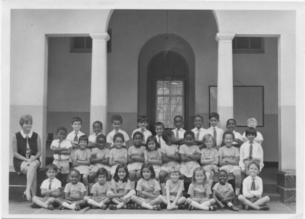Anne Cutler, far left, with her Standard 3 class
