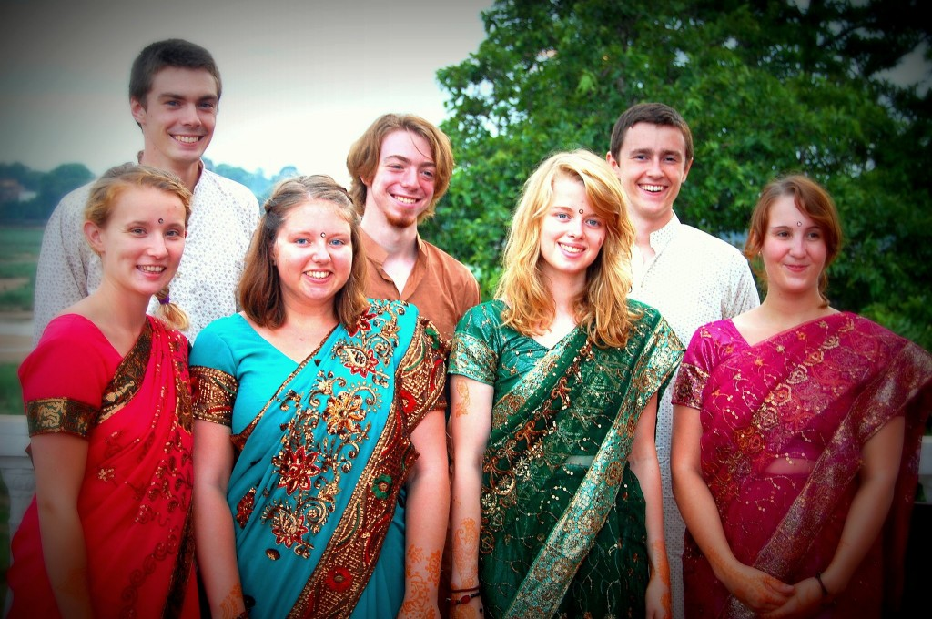 Volunteers at People First Educational Charitable Trust in Bihar, India