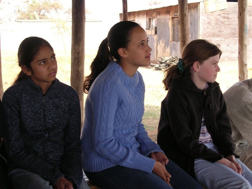Arundel Girl's School students from left to right, Nandika, Samia and Hilary