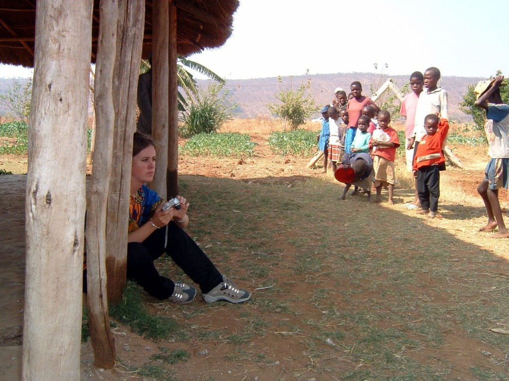 Verity making a photo documentary of the situation at Porta Farm, Zimbabwe