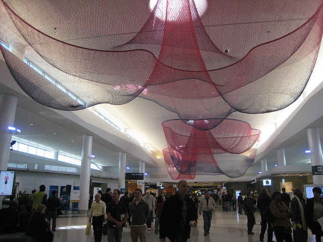 Janet's artwork at San Francisco International Airport